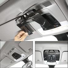 Стайлинга автомобилей углеродного волокна спереди настольная лампа рамка Обложка отделка, пригодный для BMW F48 F15 F16 F30 F34 украшения внутренние формовки новый