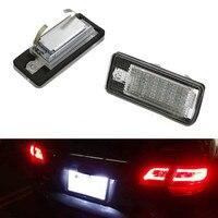 2PCS New 18 SMD LED Error Free Car License Plate Light 6000K White Lamp For Audi