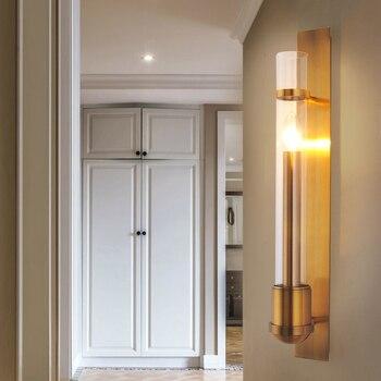 จีนโคมไฟติดผนังห้องนั่งเล่นโรงแรมล็อบบี้พื้นหลังโคมไฟติดผนังกระจกห้องนอนห้องน้ำแสงโคม...