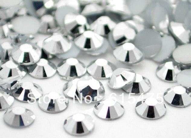 5mm Hematite Color SS20 crystal Resin rhinestones flatback,Nail Art Rhinestones,30,000pcs/bag