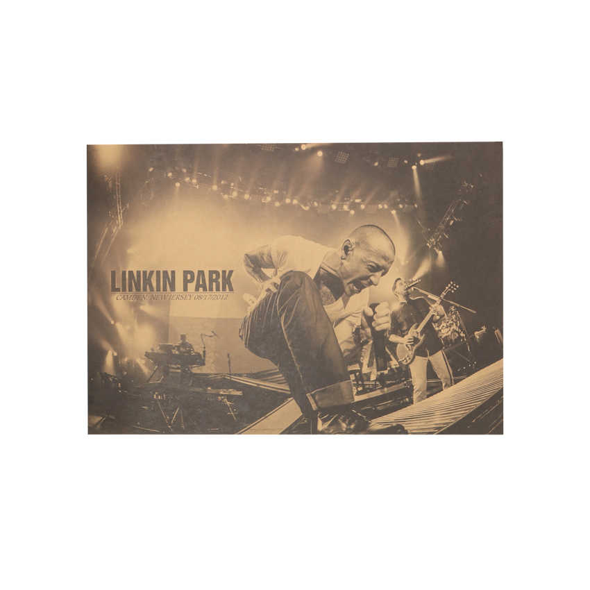 TIE LER Nostalgico Rock Band Linkin Park B Style Kraft di Carta Cafe Bar Poster Retro Poster Pittura Decorativa 51x36 centimetri