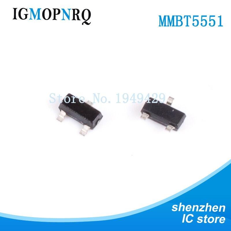 100 pièces 2N5551 MMBT5551 G1 SOT23-3 transistor de jonction bipolaire (BJT) NPN Gen Pur SS nouveau original livraison gratuite
