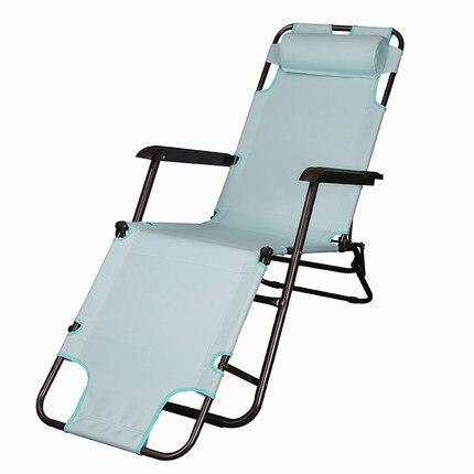 Super Light Portable Folding Easy Outdoor Chair Soft Sun Lounger Leisure Lazy Chair Breathable Balcony Beach Chair Furniture