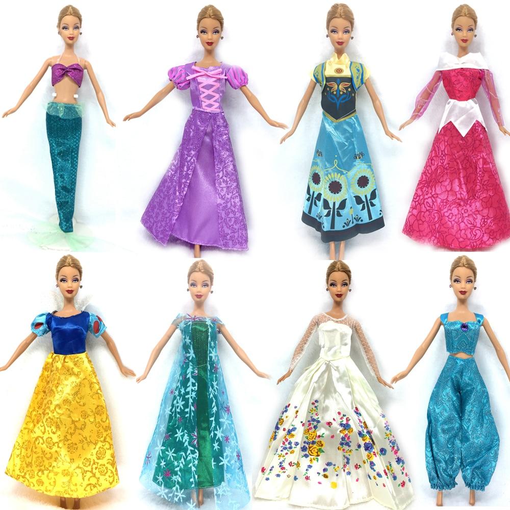nk un ensemble poupe robe similaire conte de fes princesse blanche neige cendrillon anna de mariage robe pour barbie poupe