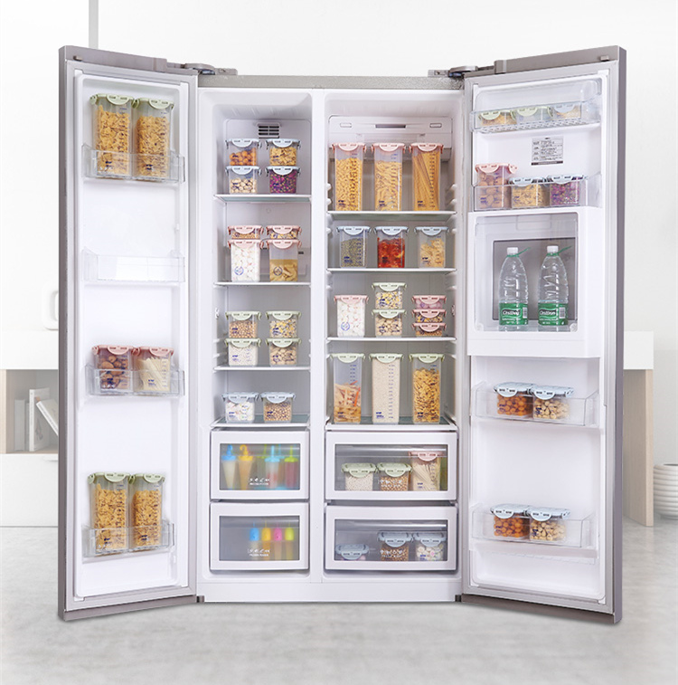 Half Flip Kitchen Container Set and Airtight Food Storage Box Storage for Preservation of Cereals 6