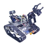 Xiao R WiFi Video Robot Arm Car with Gimbal Camera Raspberry Pi 3 Built in Bluetooth Wifi Module Science RC Toys