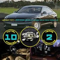 10x5630 5730 SMD LED Canbus Dome Bản Đồ tấm Giấy Phép Găng Tay Box Nội Thất Kit Fit cho CL-Class W216 C216 2006 ~ 12 Trắng #102