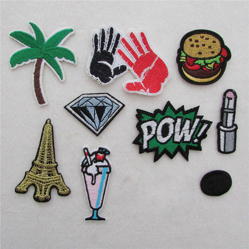 new arrive hot multiple style select hot melt adhesive applique embroidery patches stripes DIY clothing accessory 1pcs sell
