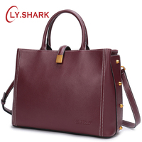 LY.SHARK Ladies' Genuine Leather Handbag Luxury Handbags Women Bags Designer Crossbody Bags For Women Shoulder Bag Female