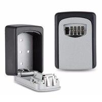 Hook Organizer Aluminum Alloy Secret Safe Box Wall Mount Key Storage Security Lock With 4 Digit