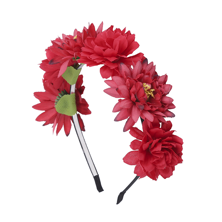 Haimeikang 2019 New Flower Women Bride Wedding Wreath Crown Headband Hair Accessories,Spring Summer Hair Band for Women,Girls