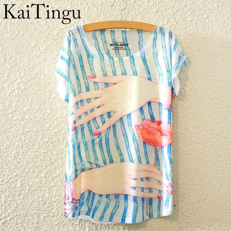 HTB1G1RxLpXXXXb8aXXXq6xXFXXX1 - New Fashion Summer Animal Cat Print Shirt O-Neck Short Sleeve T Shirt