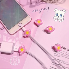 10PCS Mini Cute Silicone USB Cable Protector Data Line Cord Protection Case Cable Winder Cover For iPhone 5 6 6s 7 Plus 8