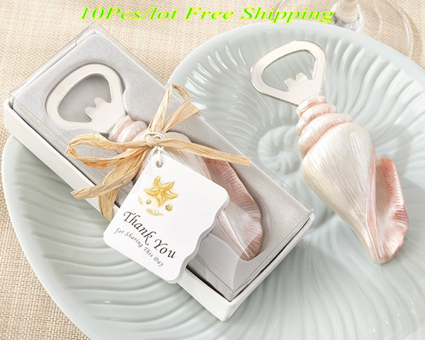 10 Pieces Lot Beach Wedding Reception Gifts Of Sea Shell Bottle Opener Party Favors For And Event Guests In From Home Garden On