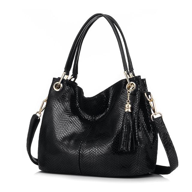 REALER женская ручная сумка из натуральной кожи со змеиным принтом, большая сумка женская натуральная кожа через плечо, сумки женские с короткими ручками