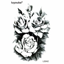 Beauty tree peony Waterproof Temporary Tattoos Men Flower Tattoo kids Harajuku henna tattoo body art sticker tatuagem grande