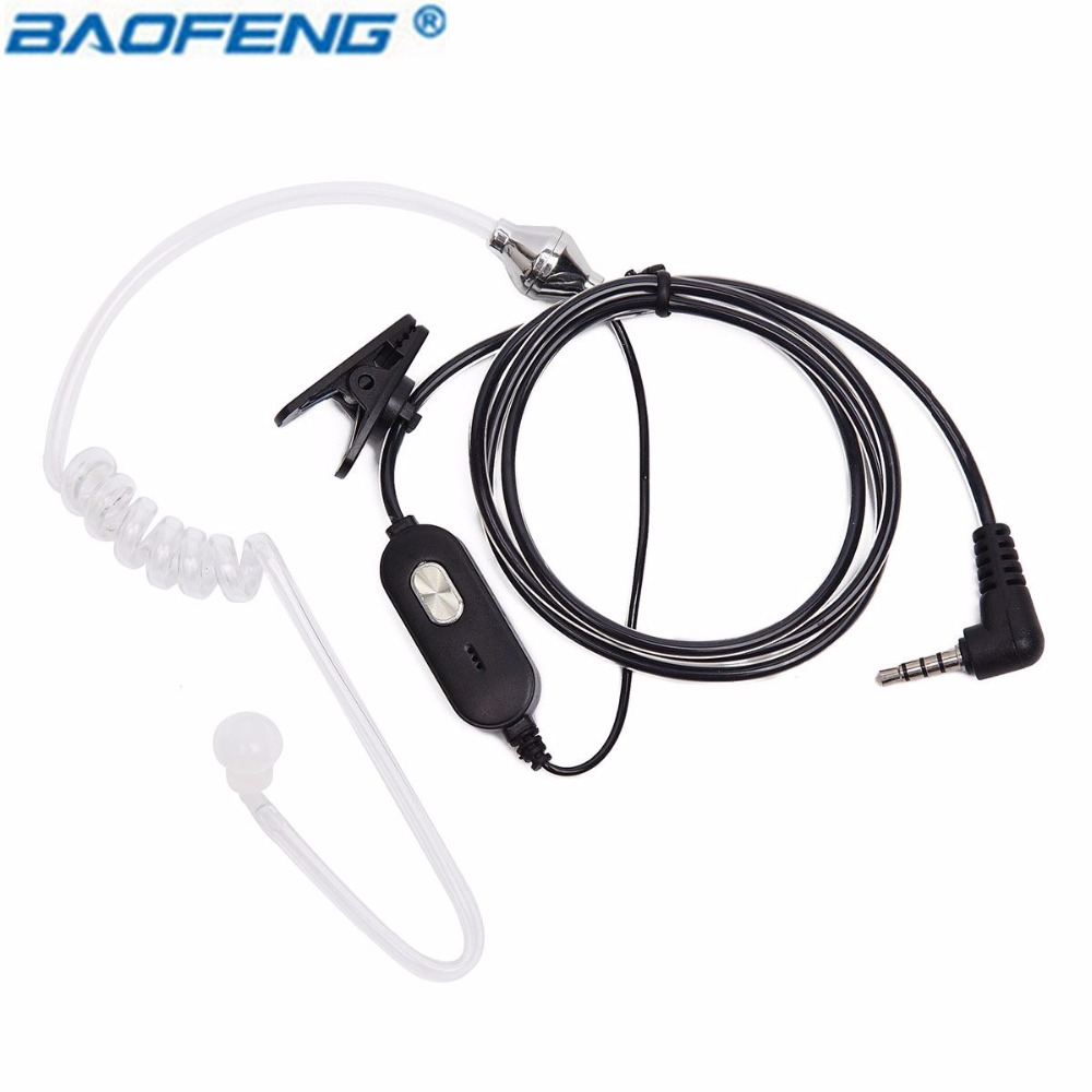 Baofeng Air Acoustique Tube PTT Mic Écouteur Talkie Walkie Casque Pour Baofeng Two Way Radio BF-T1 BFT1 Jambon Radio BF t1 CB Radio