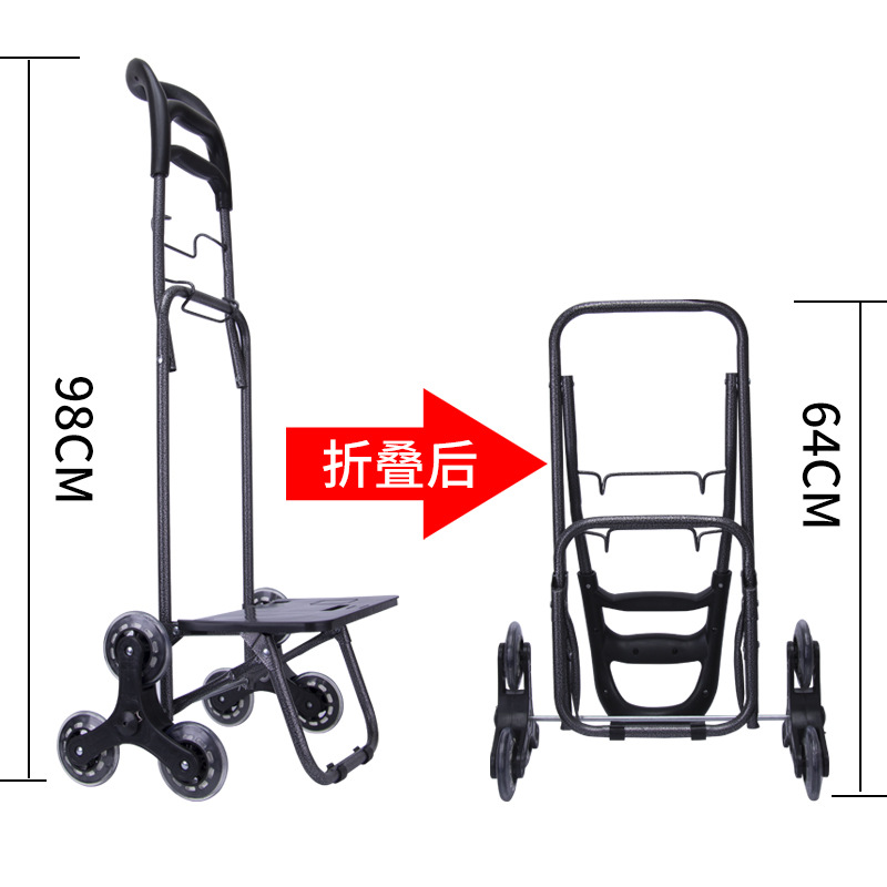 d23edfb9b2 Melhor UM, 25L Resistente Leve dobrável carrinhos de compras carrinhos  carrinhos de mão Saco de Compras À Prova D Água 6 rodas subir escadas  Facilmente ...