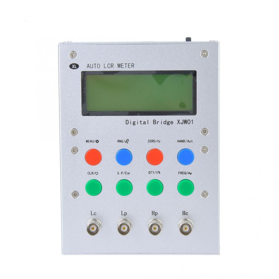 XJW01 цифровой мост 0.3% конденсатор сопротивление индуктивности ESR метр 220 В CN вилка Мультиметры      АлиЭкспресс