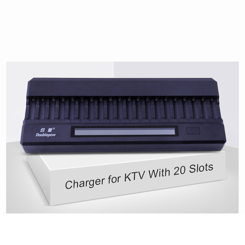 20 slots Doublepow DP-K20 DC 12V 2A LCD Intelligent Rapid Battery Charger for 1.2V AA Ni-MH/Ni-CD KTV Dedicated Microphone 110 240v al1411dv replace ni cd battery charger for bosch charger gdr12v gsb12v gsb14 4v gsr 7 2v gsr9 6v gsr12v gsr14 4v gsr18v