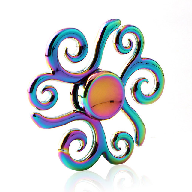 Flowers Colorful Fidget Spinner Edc Hand Spinners Autism Adhd Kids Christmas Gifts Metal Finger Toys Spinners