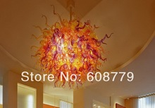 Italian Chihuly Style Hand Blown Glass Ball Chandelier