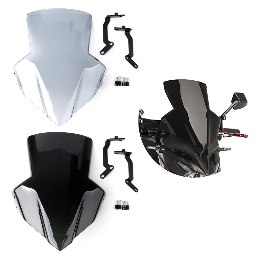 Areyourshop Motorcycle Wind Shield Windshield Windscreen for Honda CB650F 2014-2017 ABS plastic Motorcycle Accessories Covers for bmw g310r 2017 on motorcycle windshield windscreen with mounting bracket high quality abs plastic