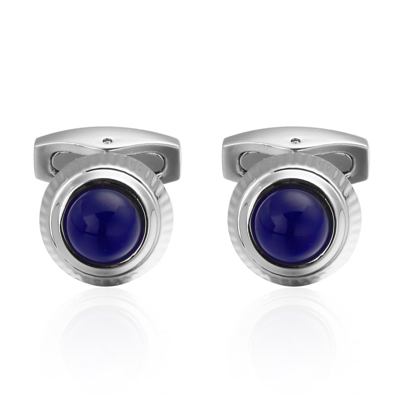 C-MAN Luxury shirt silver Blue Crystal Cufflinks brand Hipster Cufflinks For Men Gift for Dad Gift for Husband Fathers Day Gift