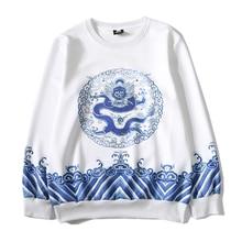 3D Hoodies Men's Harujuku Sweatshirts Print Dragon Waves Hip Hop Moletom Masculino Unisex Brand Autumn Tops Clothing S-XXL