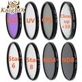 KnightX UV CPL Star Set lens uv filter for Sony Nikon d3100  d3200 d750 Canon EOS  1000d 5d mark ii 550d 100d 1100d 600d 52 55mm