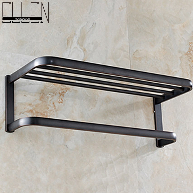 Bathroom Wall Shelf Bronze Dual Tiers Cosmetic Holder Bathroom Commodity Shelf W