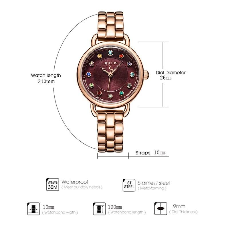 ساعة يد نسائية مرصعة ب 12 لون من حجر الراين 4