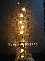 Promo F043 luces nocturnas de aluminio recién llegadas con pantallas de lámpara