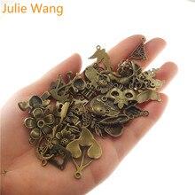 Julie Wang 100 г/упак. случайным образом смешанные стили античный бронзовый маленький амулет для ожерелья подвески браслет ювелирных изделий Аксессуары