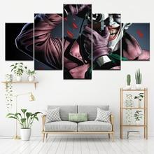цена Canvas Painting The film Batman: The Killing Joke 5 Pieces Wall Art Painting Modular Wallpapers Poster Print Home Decor онлайн в 2017 году