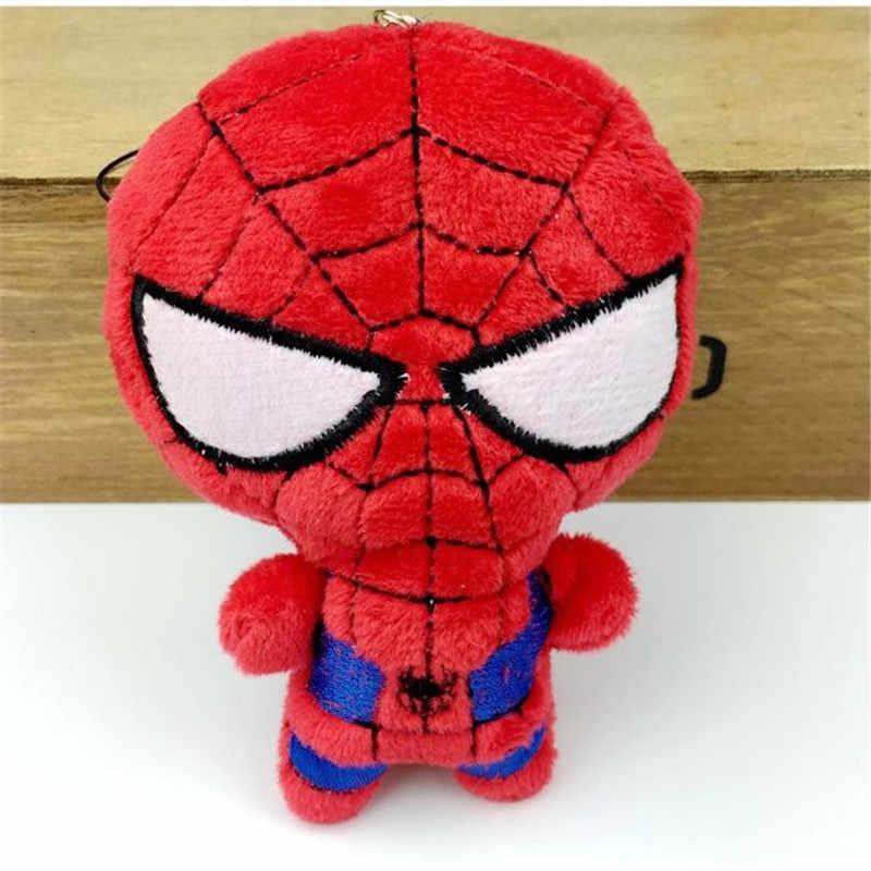 3 PCS 10 cm de Pelúcia Macia Super Herói Capitão América Homem De Ferro Homem Aranha De Pelúcia Brinquedos The Avengers Filme Dolls para presente de Aniversário para crianças