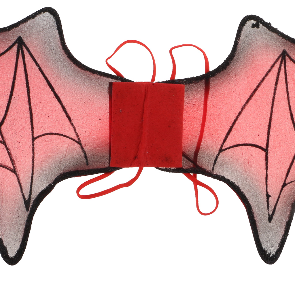 Set of 3pcs Bat Wings Trident Black Headband Halloween Fancy Dress Accessory