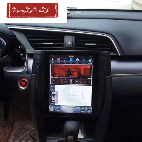 10.4 inch Android car DVD multimedia GPS navigation system for HONDA Civic 2016 with radio/video/wifi/mp3/mp4/usb