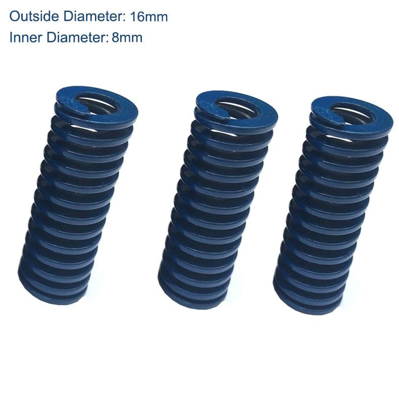 TL 16mm OD 8mm ID 80mm 90mm 100mm 125mm 150mm longitud azul carga ligera 65Mn Metal espiral estampado compresión molde muelle de troquel ¡Novedad de 2020! Vestido MIDI ajustado sexi de diseñador de alta calidad para mujer de pasarela a la moda, verde profundo, elegante, para fiesta y primavera