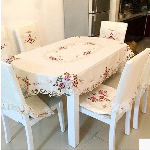 Embroidered Cloth High Grade Round Table Cloth Large Round Table Linen  Tablecloth Round Table Cloth