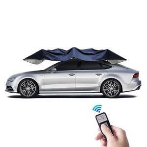 Image 2 - 4.2M אוטומטי רכב מטריית אוהל רכב חיצוני נייד מטריית גג שמש כיסוי UV הגנה ערכות שמש צל עם שלט רחוק