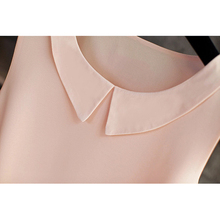 Women's blouses 2018 New sleeveless Peter pan Collar shirt For Women Chiffon Blouse  Summer Casual Large size Female Tops