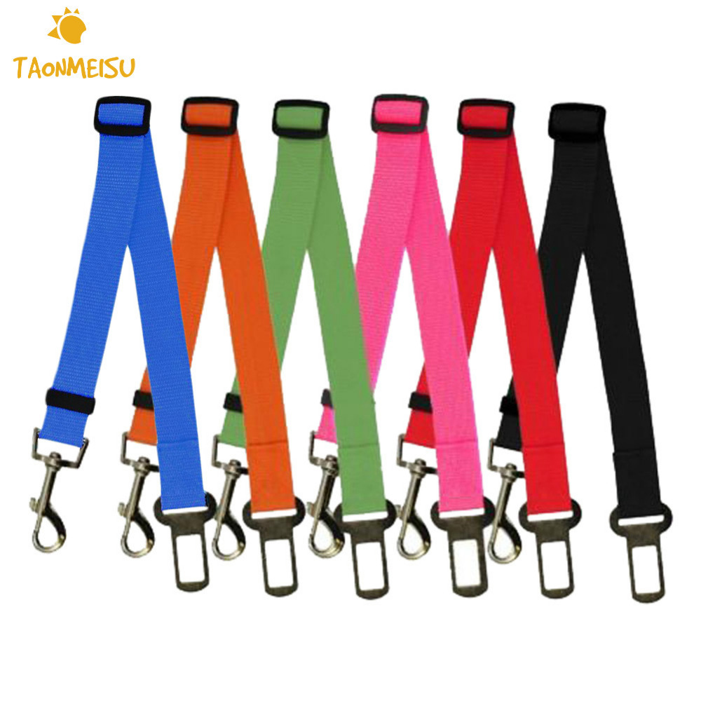 Safety Belt Us 1 48 42 Off Adjustable Car Dog Car Safety Belt Nylon Pets Puppy Seat Lead Leash Harness Vehicle Seatbelt 1pcs In Leashes From Home Garden On