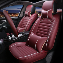 Leather Universal car seat cover for Chrysler 300c PT Cruiser Grand Voyager 300 all models auto styling car accessories plastic fender block mud paper for 2011 2014 chrysler grand voyager 3 6l car styling