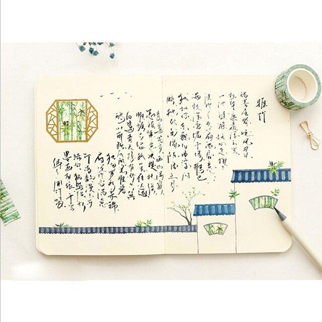 20mm * 8 m Kawaii bambou forêt papier pour bricolage washi rubans/ruban de masquage/ruban adhésif décoratif/fournitures de papeterie scolaire