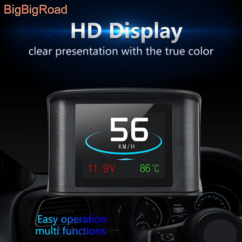 BigBigRoad For BMW 3 4 Series F30 F31 F34 X3 E46 F32 F33 F36 X4 F26 G01 Car Hud OBD 2 Speed Windscreen Projector Head Up Display bigbigroad car hud obd 2 euobd windscreen projector speed head up display for kia niro mohave borrego k9 k900 kx3 k7 kx7 cadenza