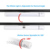 5 Rotativo LED Sensor de luz de detección de Movimiento Con Pilas Luz para Armario Baño Gabinete Escalera portátil de Color Blanco