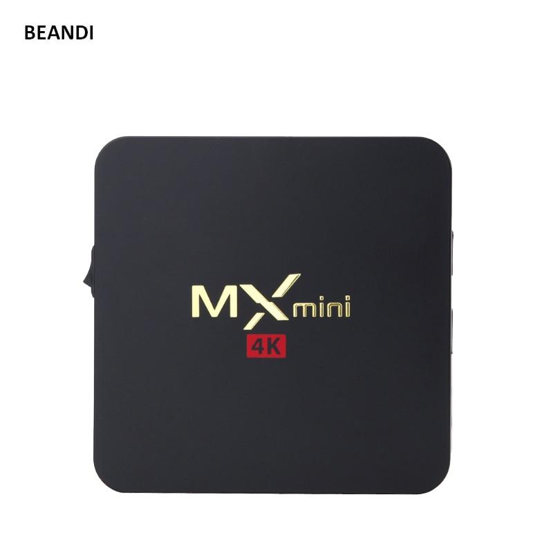 2016 best mini mx TV box support KD movie quad-core Android 5.1 UHD network media player  S905 64 Bit 4K DDR3 1GB eMMc 8GB bundle nexsmart d32 4k uhd android media player tronsmart tsm01