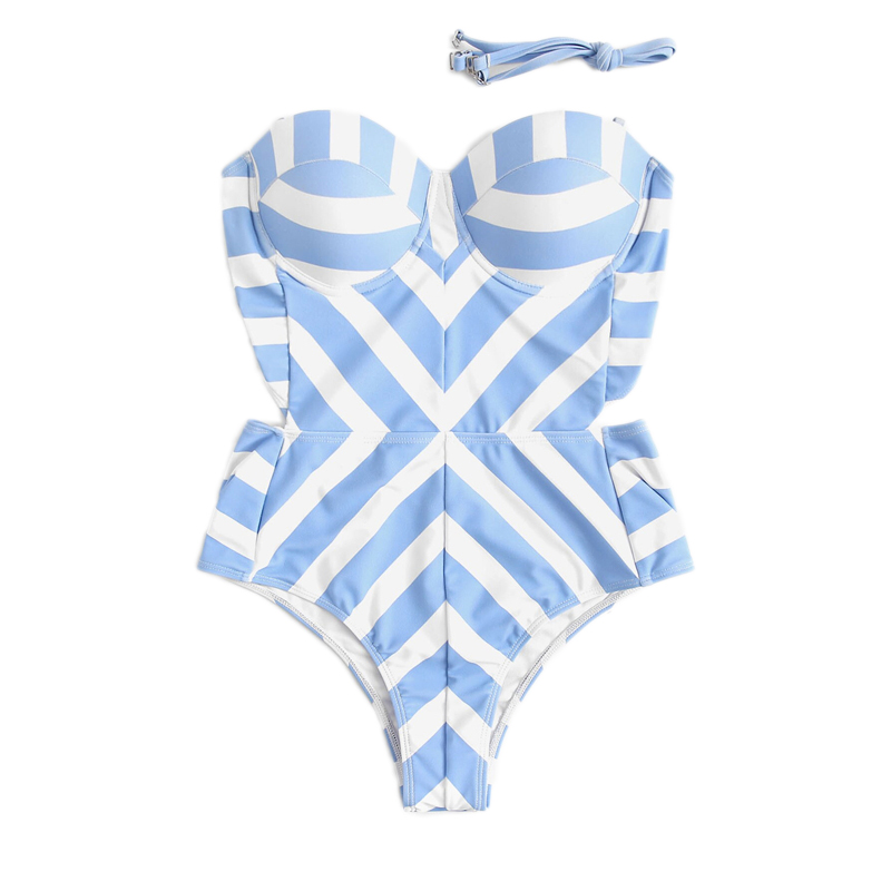 Monokini Cut Out One Piece Suits 10