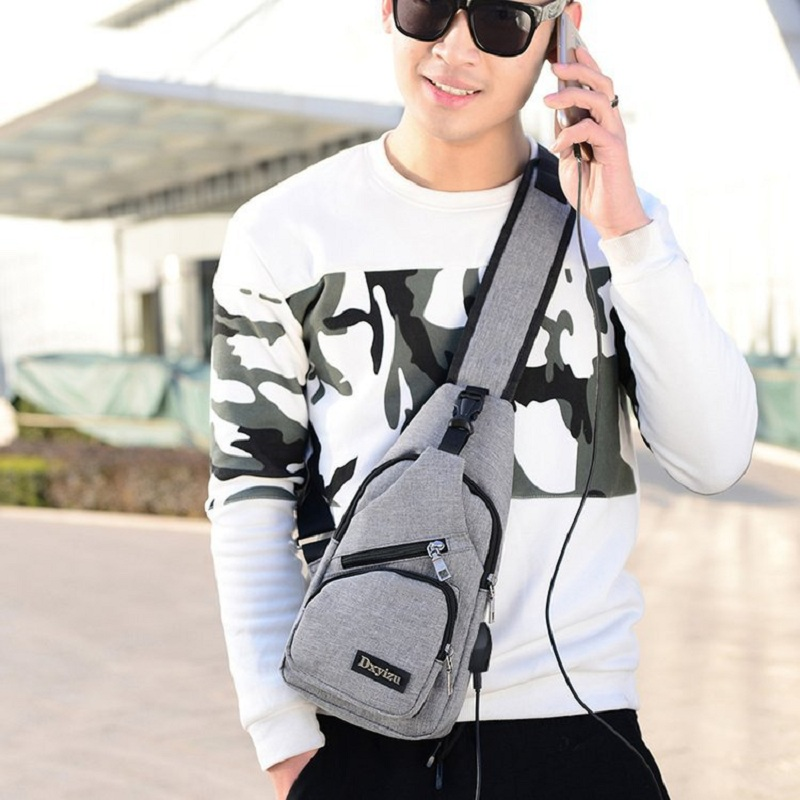 Qiaoduo Men's Canvas Shoulder Bags 5 Colors New Fashion Chest bag Casual High Quality Crossbody Bags Bolsos Mujer 2020 CR6584